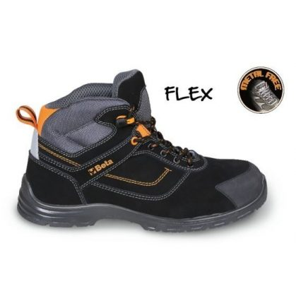 7218 FN FLEX Action nabuk bőr bokacipő, mérsékelten vízálló kopásálló orrvédő betéttel és gyorskioldással