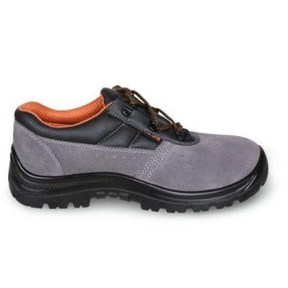 7246 BK BASIC Perforált hasított bőr cipő