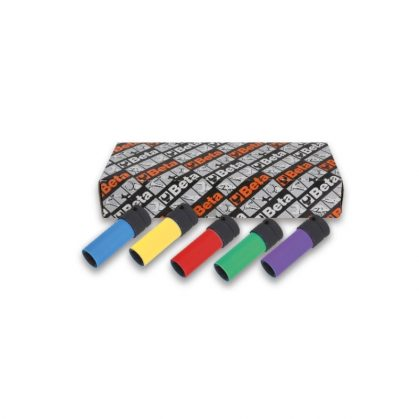 720LC/S5 5 darabos gépi dugókulcs sorozat kerékanyákhoz színes polimer betétekkel