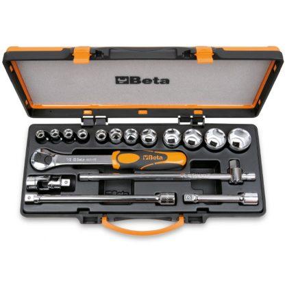 920A/C12X 12 dugókulcs és 5 tartozék fémdobozban