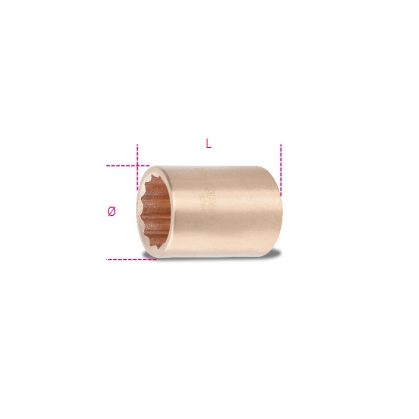 926BA 27 Tizenkétszögű dugókulcs, szikramentes