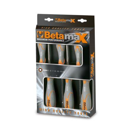 943BX/D6 6 részes dugókulcs-csavarhúzó szerszám készlet bi-materiál nyéllel