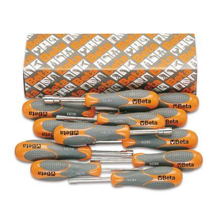 943BX/S12 12 részes dugókulcs-csavarhúzó szerszám készlet bi-materiál nyéllel
