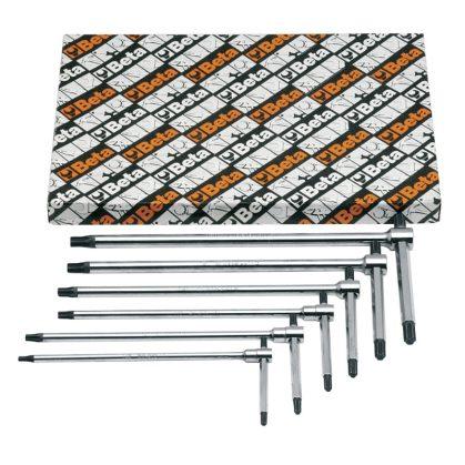 951TX/S6 6 darabos hajlított csavarhúzó készlet Torx® csavarokhoz