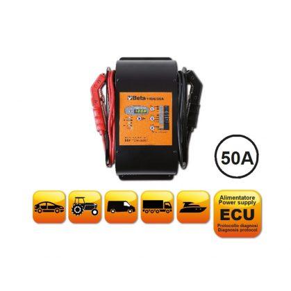 1498/50A 12 V többfunkciós elektronikus akkumulátortöltő