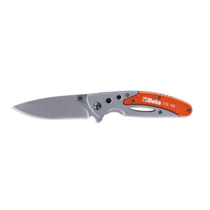 1778V18 Behajtható pengéjű kés alumínium nyél • tokban