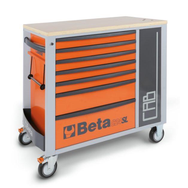 C24SL-CAB 7 fiókos szerszámkocsi és tárolószekrény