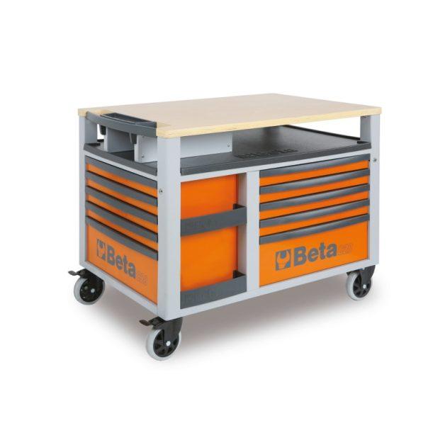 C28 - 2800 SuperTank szerszámkocsi munkalappal és 10 fiókkal