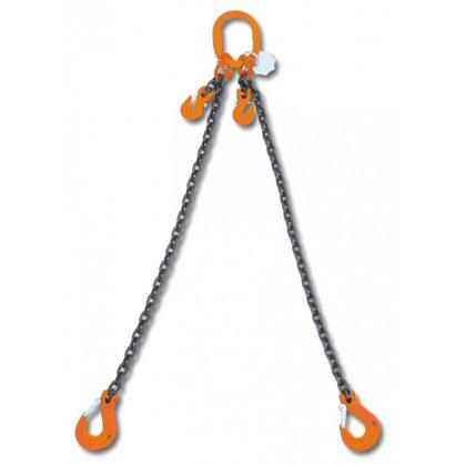 8097 rögzítő emelőheveder közelítő horgokkal 2 karos lánc, táskában