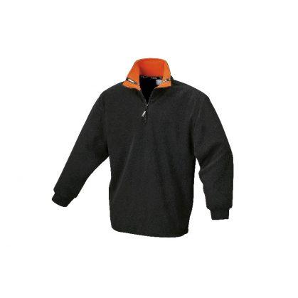 9537N Fleece-pulóver, 100% poliészter, fekete