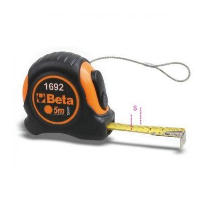 1692HS Mérőszalag, ütésálló bimateriál ABS-ház, acélszalag, pontossági osztály: II