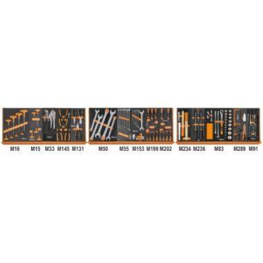 5988 UX/MP-L 135 darabos szerszámkészlet lágy hőformált tálcában