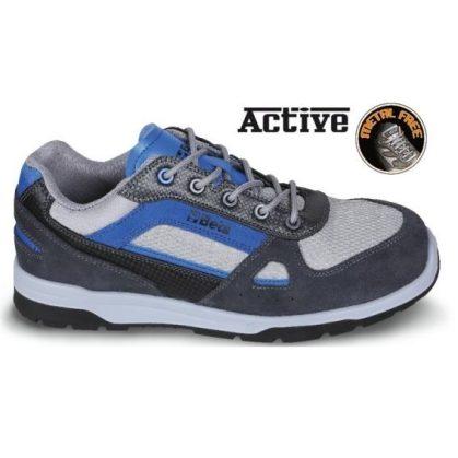 7314 AB SNEAKERS Perforált hasított bőr cipő nylon mesh és karbon betétekkel