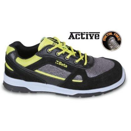 7314 AF SNEAKERS Perforált hasított bőr cipő nylon mesh és karbon betétekkel