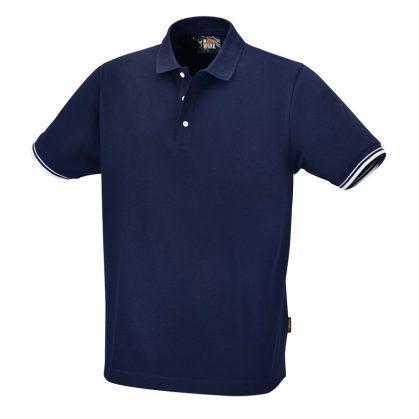 7547BL Három gombos pólóing, 100% pamut, 200 g/m2, kék