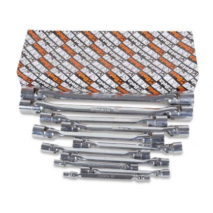 80/S11  11 részes kettős csuklós dugókulcs szerszám készlet