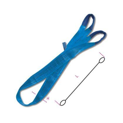 8160 8 t kék emelőheveder kétrétegű, lapos szalag, erősített karikákkal, nagy ellenállású polieszter (PES)