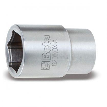 """920INOX-A Szögletes csatlakozású, 1/2""""-es negatív tájoló kulcs, hatlapú bemenettel, rozsdamentes acélból"""