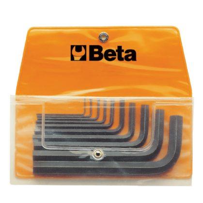 96N/B10 10 részes hajlított imbuszkulcs szerszám készlet műanyag dobozban