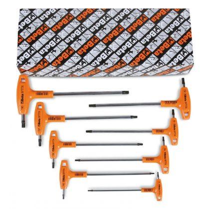 97TTX/S 8 darabos hajlított csavarhúzó készlet markolattal Torx® csavarokhoz