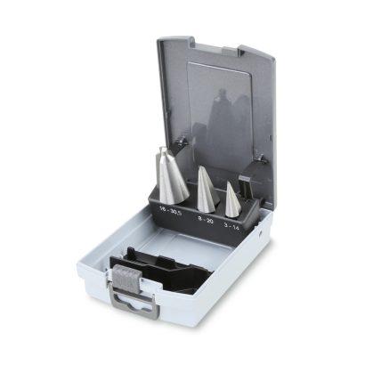 424/SP3 kúpos lemezfúró szerszám készlet kofferban