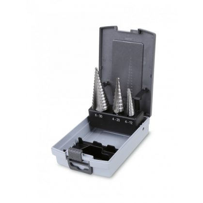 425/SP lépcsős lemezfúró szerszám készlet kofferben