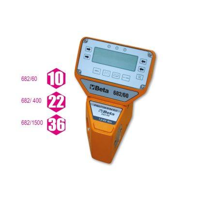 682 Elektronikus nyomatékmérőkészülék digitális kijelzővel Dynatester 682 Jobbos és balos Nagy pontosságú elektronikus mérés. A mérőkészülék adapter segítségével személyi számítógéphez csatlakoztatható az RS 232 kimeneti ponton keresztül.