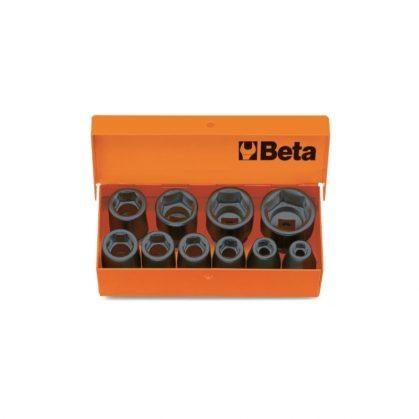 "710/C10 10 db 3/8""-os gépi dugókulcs, fémdobozban"