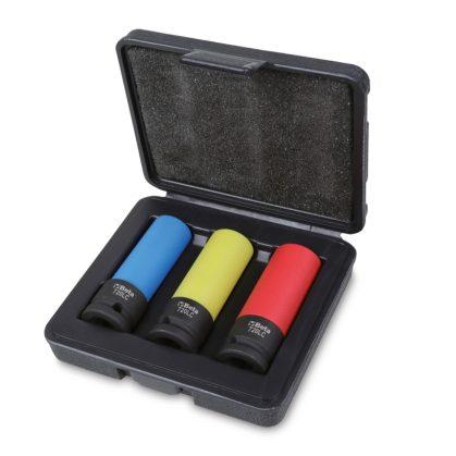 720LC/C3 3 darabos gépi dugókulcs készlet kerékanyákhoz színes polimer betétekkel