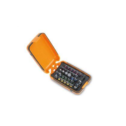 860MIX/A31 30 csavarhúzóbetét és mágneses betéttartó, műanyag dobozban