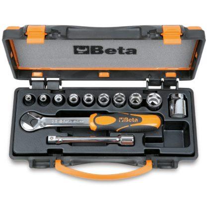 910A/C10 10 dugókulcs és 2 tartozék fémdobozban