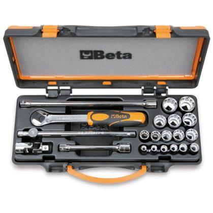 910B/C16 16 dugókulcs és 5 tartozék fémdobozban