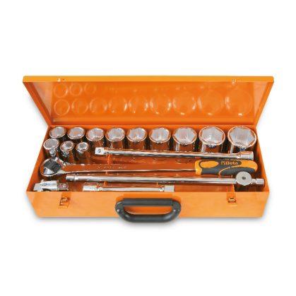 928A/C12 12 hatlapú dugókulcs és 5 tartozék, fémdobozban