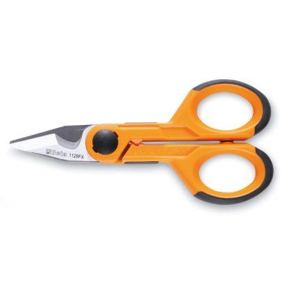 BETA 1128FX Műszerész olló, egyenes rozsdamentes acél él, mikrofogazattal, kábelvágó és krimpelő kábelsarukhoz és csövekhez