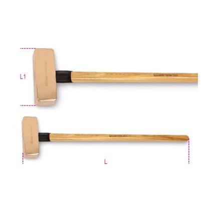 1381BA szikramentes ráverő kalapács, fanyéllel