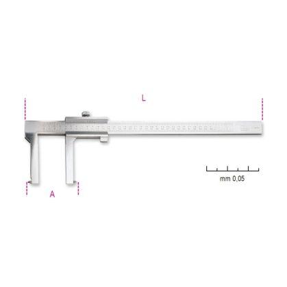 1650FT Tolómérő dobfékhez, rozsdamentes acélból, pontosság 0.05 mm