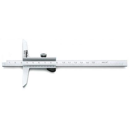 1656 Mélységmérő rozsdamentes acélból, tokban, pontosság 0.02 mm
