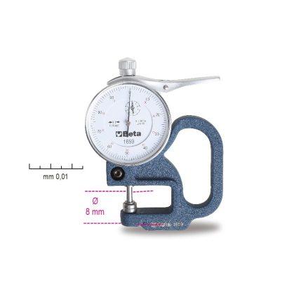 1659 Mérőórás vastagságmérő, pontosság 0.01 mm