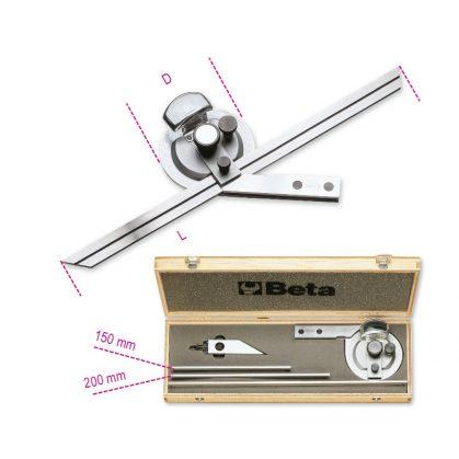 1678/C3 Dőlésszögmérő, rozsdamentes acélból, kemény dobozban
