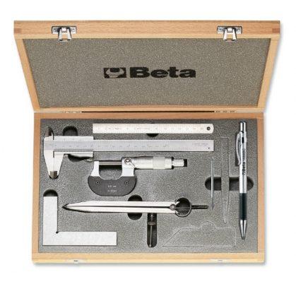1685/C7 7 részes szerszámkészlet méréshez és jelöléshez kofferban