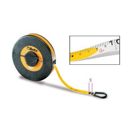 1694/L Mérőszalag, ütésálló ABS-ház, PVC-borítású üvegszál szalag, pontossági osztály: III