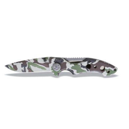 1778CM Behajtható pengéjű kés, terepszínű hőkezelt acél penge tokban