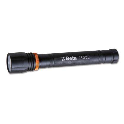 1833S LED zseblámpa intenzív fényerővel, robusztus eloxált alumíniumból, 500 lumenig