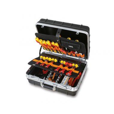 BETA 2029EL/B Szerszámkészlet műszerészeknek és villanyszerelőknek szerszámtáskában