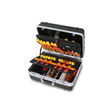 BETA 2036TET/B Szerszámkészlet műszerészeknek és villanyszerelőknek kerekes szerszámtáskával