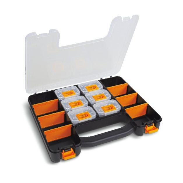 2080/V6 Üres szerszámtáska 6 db kivehető tálcával és állítható válaszfalakkal