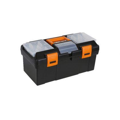 CP15 - 2115 Műanyag szerszámos láda kivehető betéttel és tálcák kis tárgyak elhelyezésére