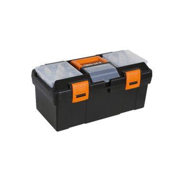 BETA 2115PVU/2 Műanyag szerszámos láda kivehető betéttel és tálcák kis tárgyak elhelyezésére szerszámkészlet