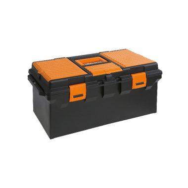 BETA 2115PL-VU/1 Műanyag szerszámos láda, hosszú kivitel kivehető betéttel és tálcák kis tárgyak elhelyezésére szerszámkészlet
