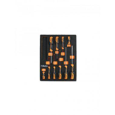 BETA 2450 M209 Habszivacs tálca BetaGrip csavarhúzókkal hasított fejű és Phillips® csavarokhoz